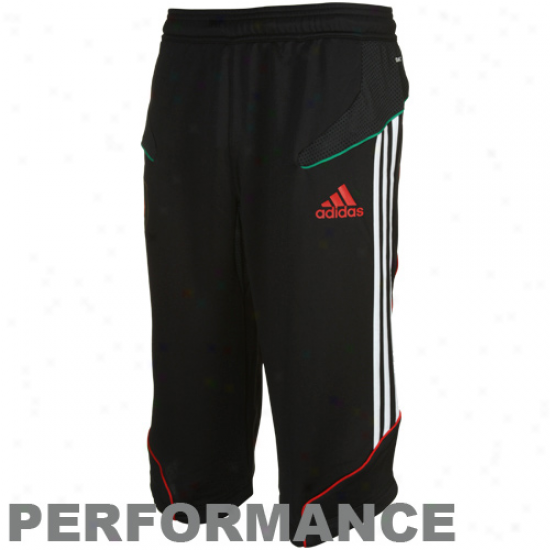 Adiidas Mecico Black 3/4 Length Performance Training Shorts
