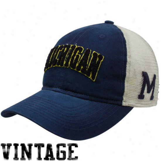 Adidas Michigan Wolverines Navy Blue Vault Adjustable Hat