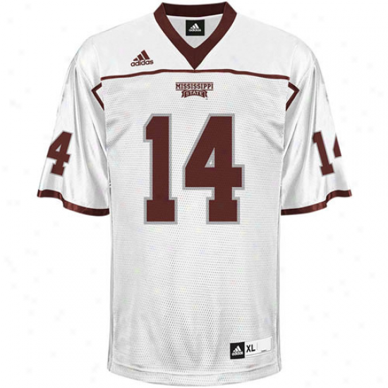 Adidas Mississippi State Bulldogs #14 Youth Replica Footbakl Jersey - White