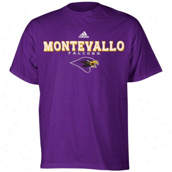 Adidas Montevallo Falcons Purple True Basic T-shirt