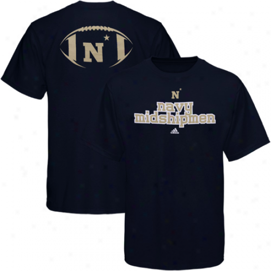 Adidas Navy Midshipmen Backfield T-shirt - Navy Blue