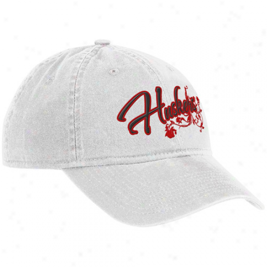 Adidas Nebraska Cornhuskers Ladies Of a ~ color Vine Team Adjustable Hat