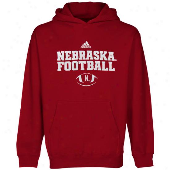 Adidas Nebraska Cornhuskers Preschool Scarler Practice Pullover Hoodie Sweatshirt