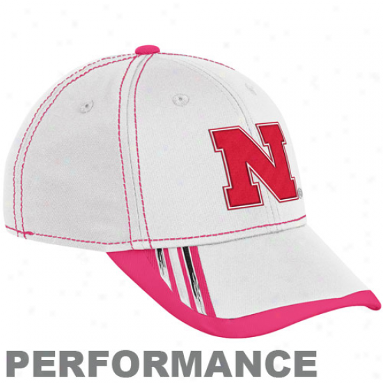 Adidas Nebraska Cornhuskers White Breast Cancer Awareness Players Sideline Performance Flex Cardinal's office
