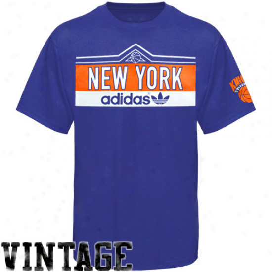 Adidas New York Knicks Royal Blue Banter Premium T-shirt