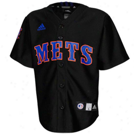 Adidas New York Mets Preschool Printed Baseball Jersey - Black