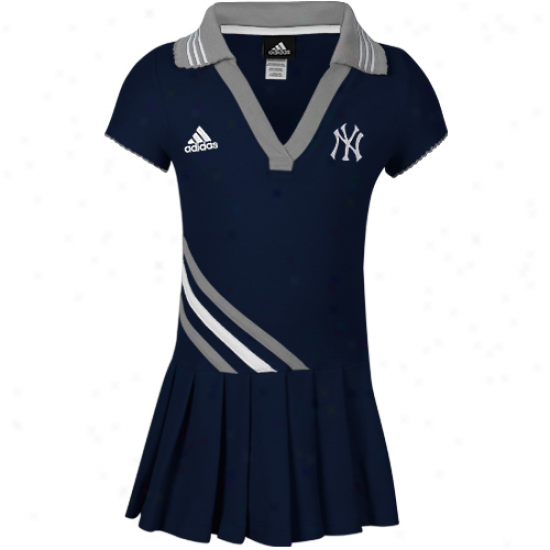 Adidas New York Yankees Toddler Girls Polo Dress - Ships of war Blue