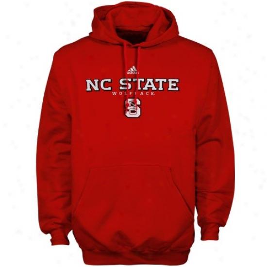 Adidas Northerly Carolina State Wolfpack Red Faithful Basic Hoody Sweatshirt