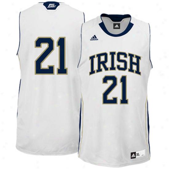 Adidas Notre Dame Fighting Irish #21 Reeplica Basketball Jersey - White