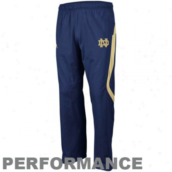 Adidas Notre Dame Fighting Irish Navy Blue Scorch Warm-up Performance Pants