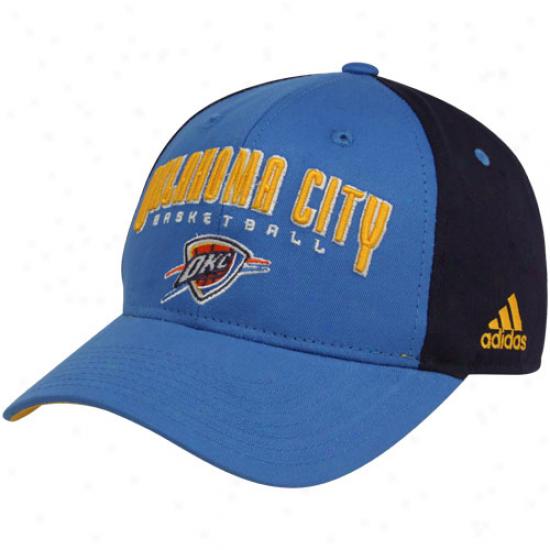Adidas Oklahoma City Thunder Royal Blue-navy Blue Brotherhood Adjustable Hat