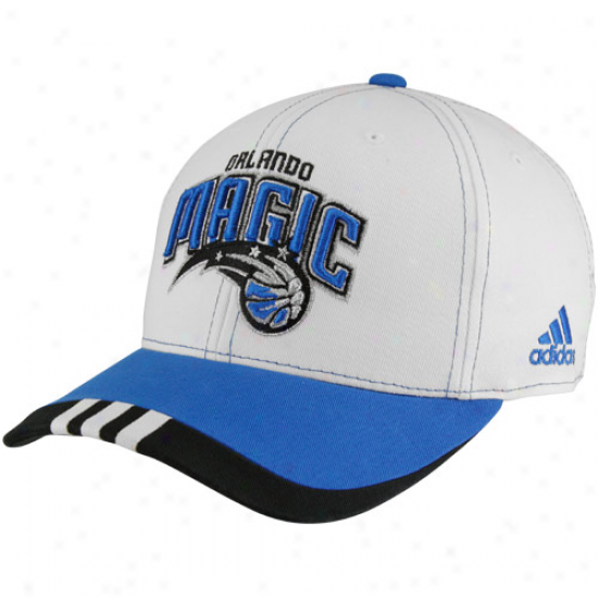Adidas Orlando Magic Youth Natural-royal Blue Authentic Team Adjustable Hat