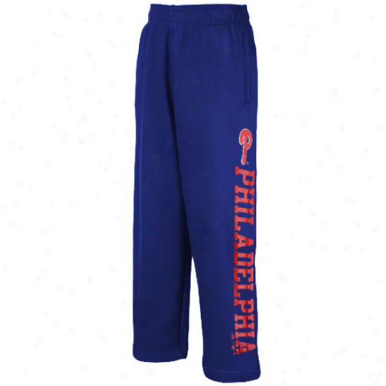 Adidas Philadelphia Phillies Preschool Royal Blue Word Plus Fleece Sweatpants