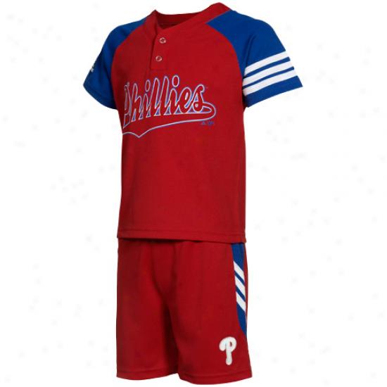 Adidas Philadelphia Phillies Toddler Jersey Set - Red/royal Blue