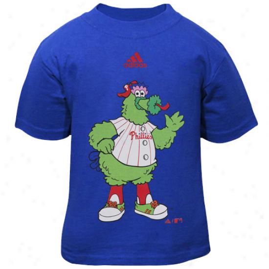 Adidas Philadelphia Phillies Toddler Phillie Phanatic Mascot T-shirt - Royal Blue