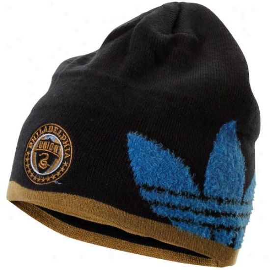Adidas Philadelphia Union Cuffless Knit Beanie - Navy Blue