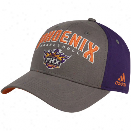 Adidas Phoenix Suns Gray-purple Brotherhood Adjustable Hat
