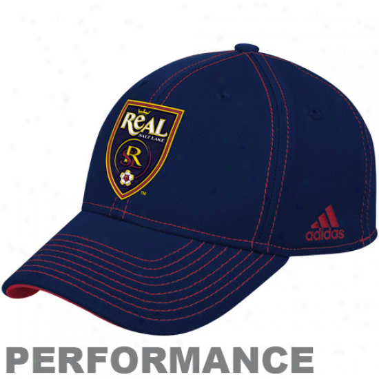 Adidas Actual Salt Lake Authentic Coach's Flex Hat - Navy Blue