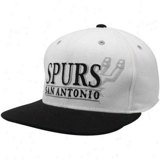 Adidas San Antonio Spurs White-black Sixth Man Snapvack Adjustable Hat