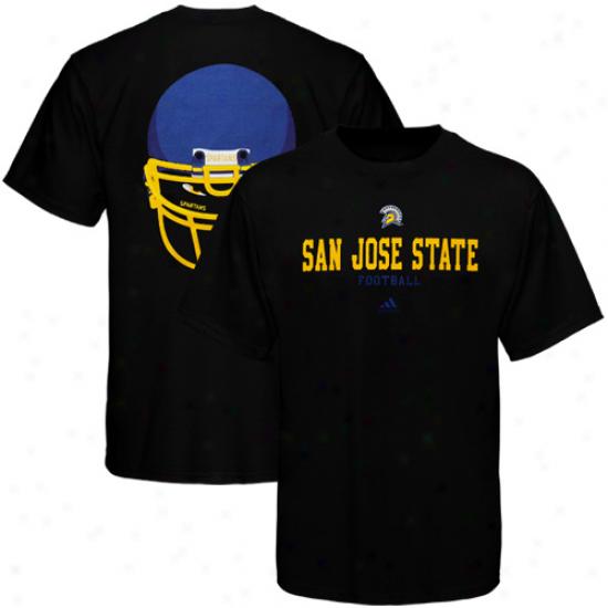 Adidas San Jose State Spartans Eyes T-ehirt - Black