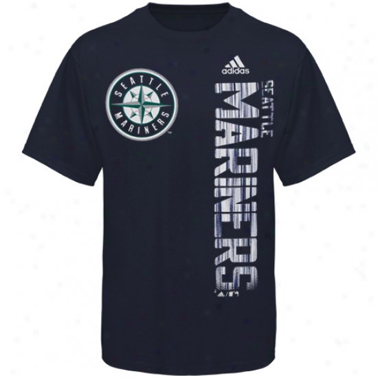 Adidas Seattle Mariners Youth Navy Blue The Loudest T-shirt