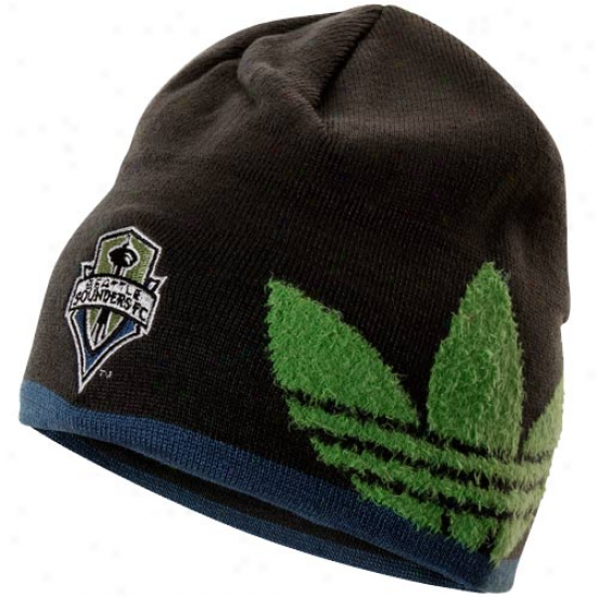 Adidas Seattle Sounders Fc Cuffless Join Beanie - Charcoal