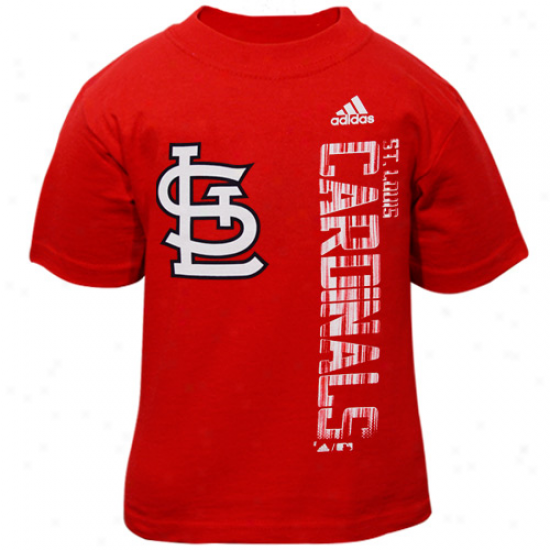 Adidas St. Louis Caardinals Toddler Red The Loudest T-shirt