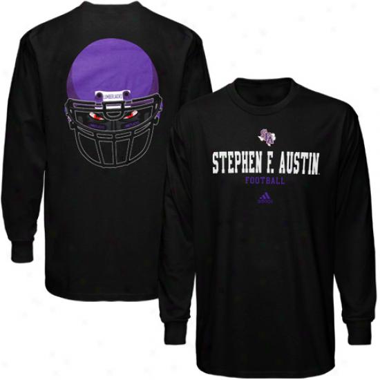 Adidas Stephen F. Austin Lumberjacks Eyes Long Sleeve T-shirt - Black