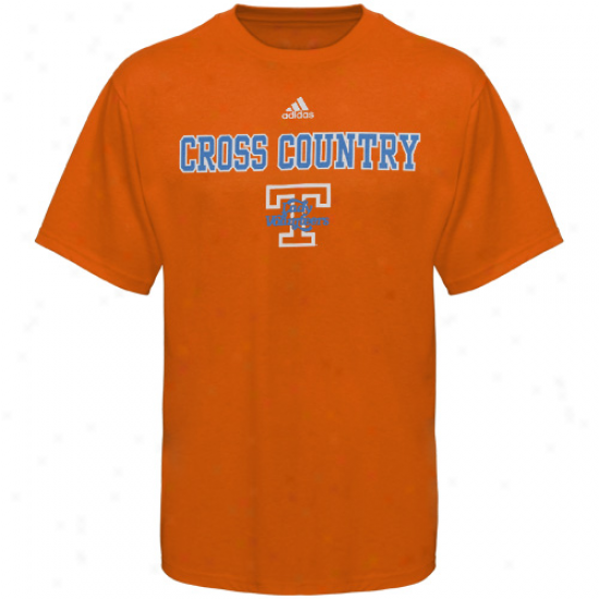 Adidas Tennessee Wife Vols Tennessee Orange Track & Field T-shirt-