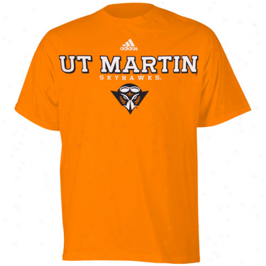 Adidas Tennessee Martin Skyhawks Orange True Basic T-shirt