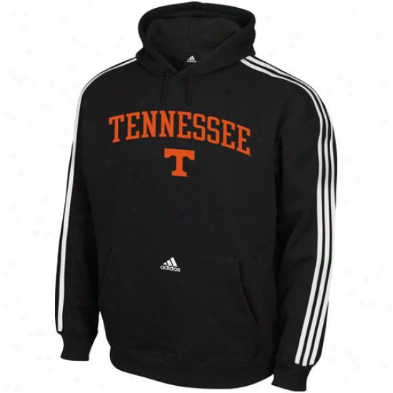 Adidas Tennessee Volunteers Black Big Game Day 3-striped Pullover Hoodie Sweatshirt
