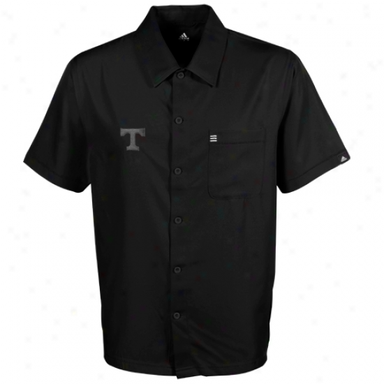 Adidas Tennessee Volunteers Black Logo Button-down Shirt