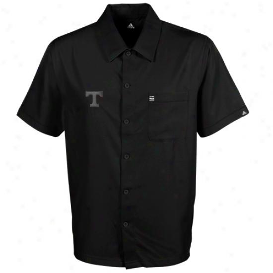 Adidas Tennessee Volunteers Black Logo Button-down Shirt