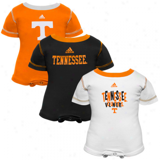 Adidas Tennessee Volunteers Infant Tennessee Orange-black-white 3-pack Cr3eper Set