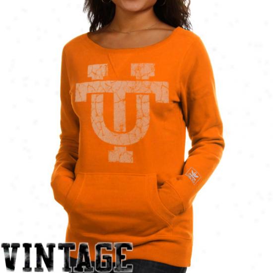 Adidas Tennessee Volunteers Ladies Tennessee Orange Giant Logo Pullover Sweatshirt