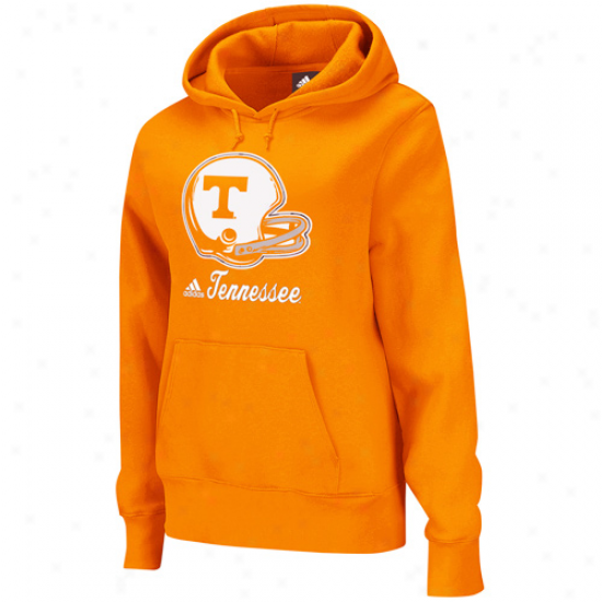Adidas Tennessee Volunteers Ladies Tennessee Orange Helmet Patch Too Pullover Hoodie Sweatshirt