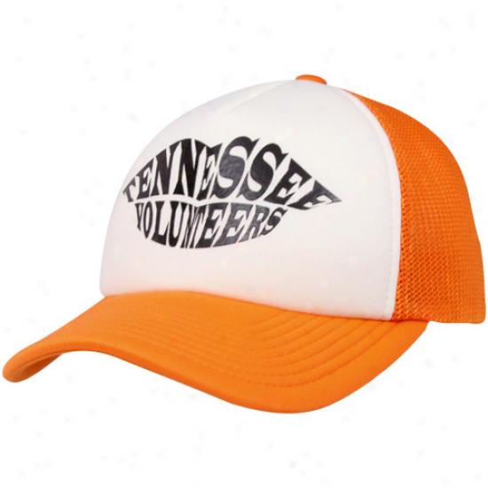 Adidas Tennessee Volunteers Ladies Tennessee Orange-natural Kiss  Adjustsble Trucker Hat