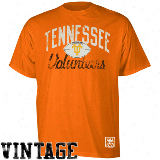Adidas Tennessee Volunteers Pinback Vintage Premium T-shirt - Tennessee Orange