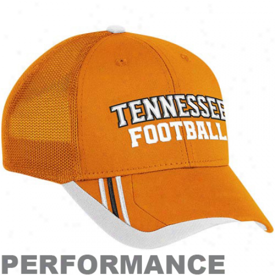 Adidas Tennesxee Volunteers Tennessee Orange Players Mesh Back Performance Flex Hat