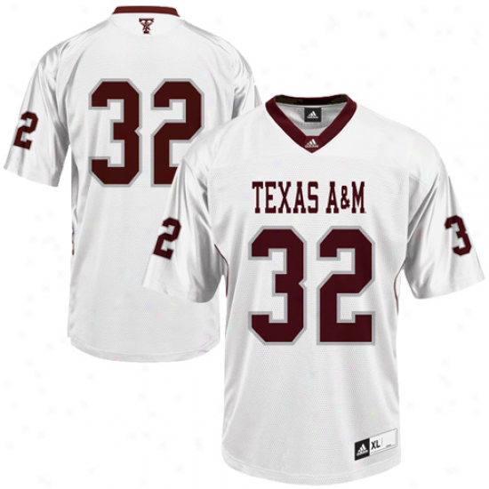 Acidas Texas A&m Aggies #32 Replica Football Jersey - White