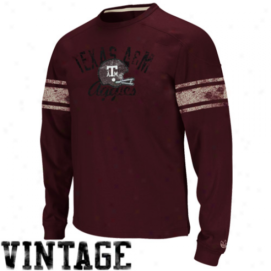 Adisas Texas A&m Aggies Homecoming Protracted Sleeve T-shirt - Maroon