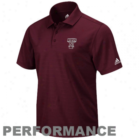 Adidas Texas A&m Aggies Maeoon Climalite Performance Polo