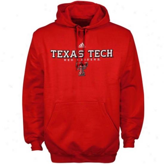 Adidas Texas Tech Red Raiders Scarlet True Basic Hoody Sweatshirt