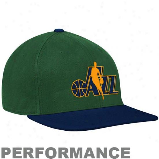 Adidas Utah Jazz Green-navy Blue 2-in-1 Bill Performance Flex Cardinal's office