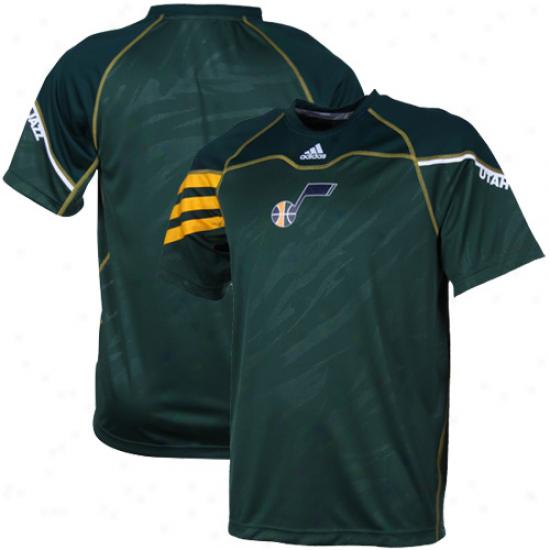 Adidas Utah Jazz On-cuort Team Shooter Premium T-shirt - Green
