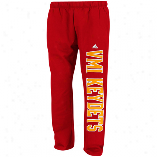 Adidas Vmi Virginia Military Keydets Red Word Plus Cover fleecily Sweatpants
