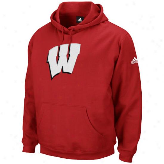 Adidas Wisconsin Badgers Cardinal Playbook Pullover Hoodie Sewatshirt
