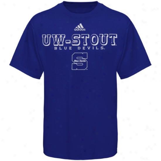 Adidas Wisconsin Stout Blue Devlis Royal Melancholy True Basic T-shirt