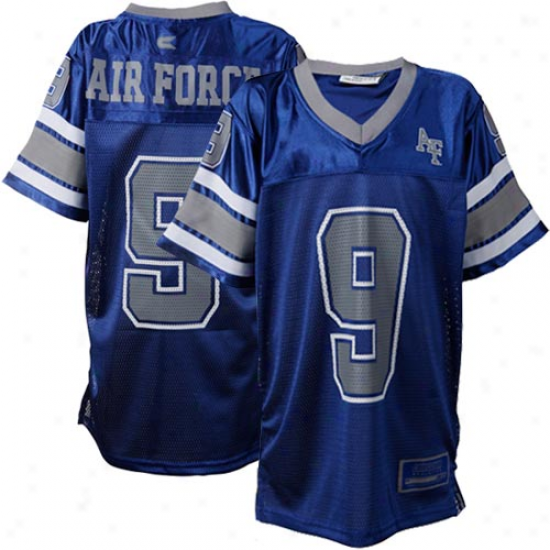 Air Force Falcons #9 Youth Stadium Football Jersey-rogal Blue