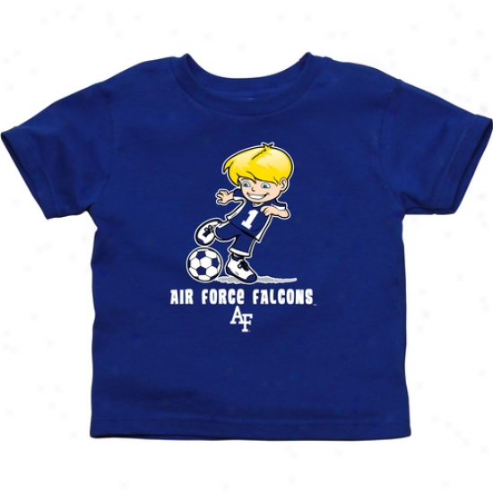 Air Force Falcons Infant Boys Socer T-shirt - Royal Blue